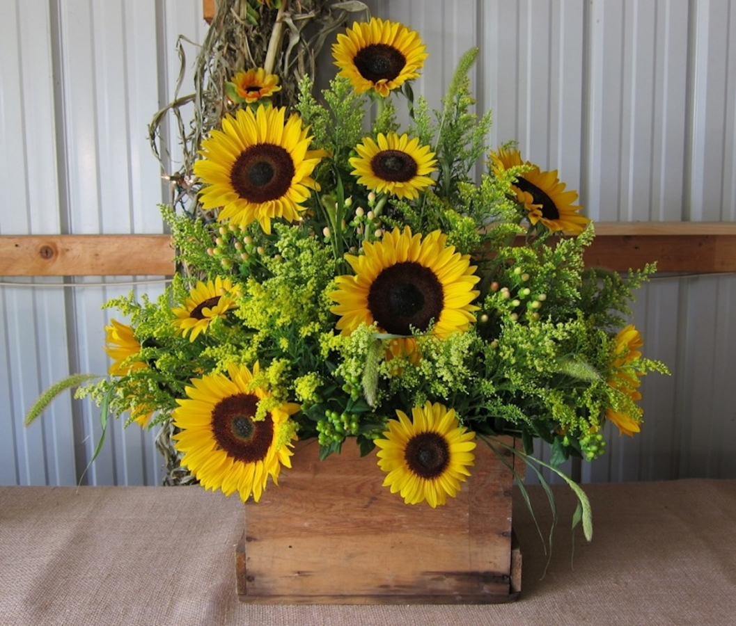 sunflower-crate