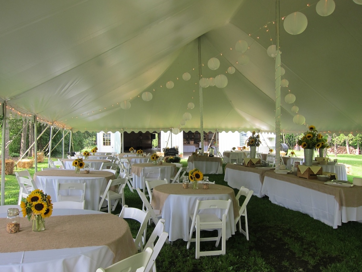 wedding-tent-with-sunflowers